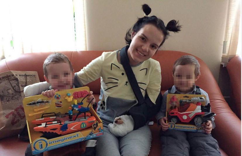 Маргарита Грачёва с детьми. Фото Екатерина Морозова.