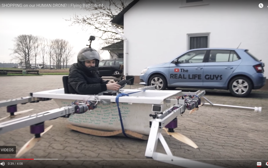 Аппарат, сконструированный немецкими блогерами. Фото Скриншот Youtube