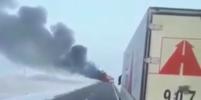 Названа причина возгорания автобуса в Казахстане