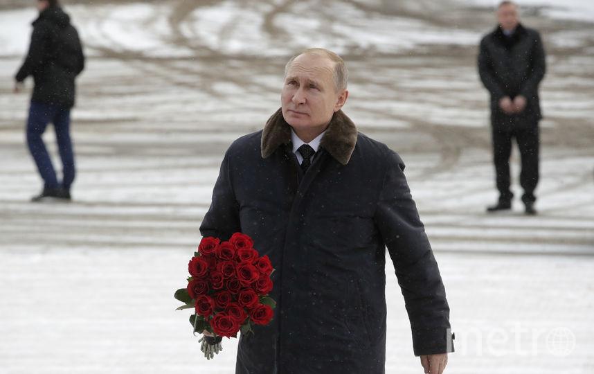 Владимир Путин принял участие в памятных мероприятиях, приуроченных к 75-летию прорыва блокады Ленинграда. Фото AFP