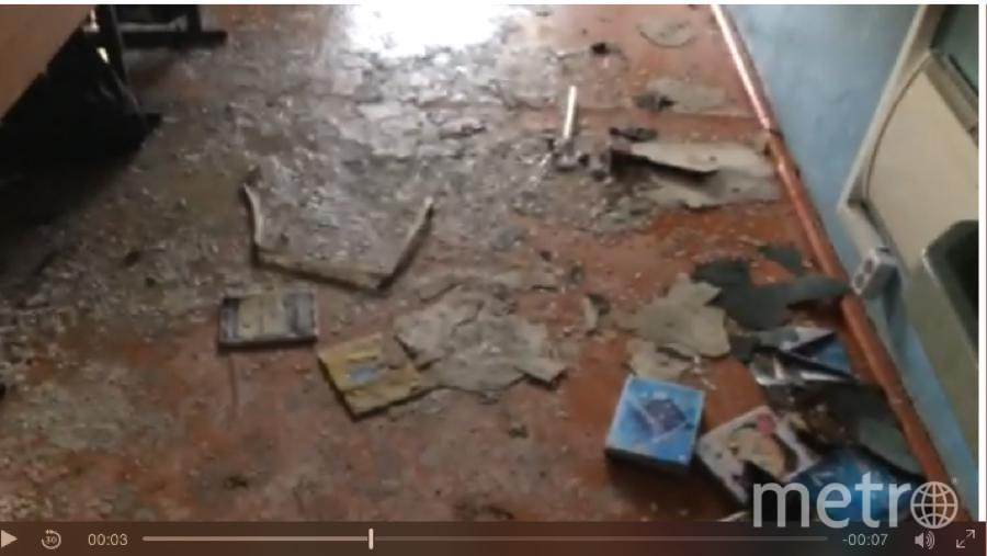 Кадр видео из школы после нападения. Фото http://buryatia.sledcom.ru/news/item/1196778/