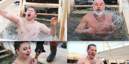 Лица людей, прыгнувших в прорубь на Крещение: лучшие фото