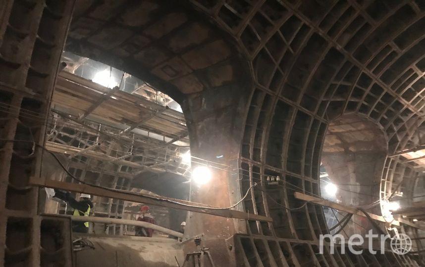 """Через эти пилоны пассажиры будут заходить в вагоны метро. Фото Мария Беленькая, """"Metro"""""""