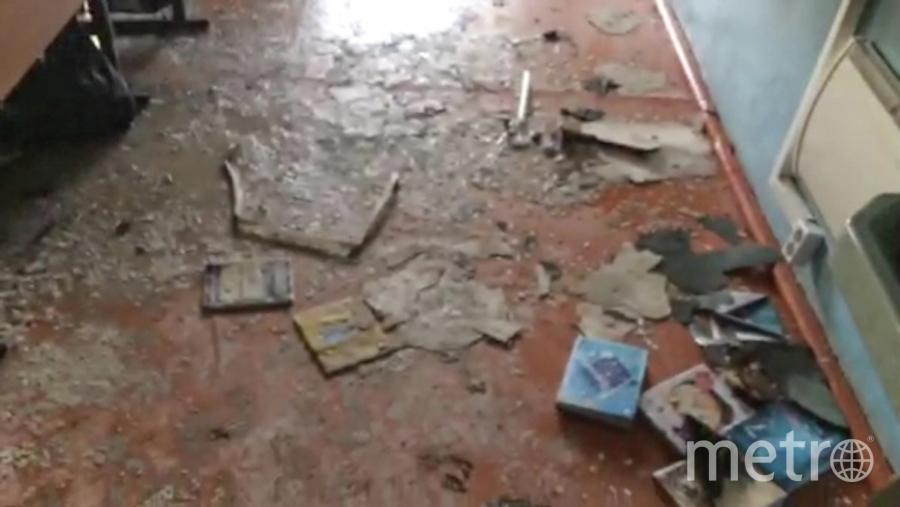 Класс в Улан-Удэ, где произошло нападение. Фото РИА Новости
