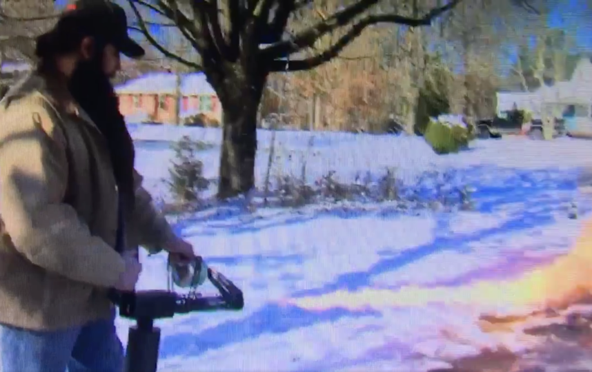 Скриншот из видео. Фото Twitter @wx_will
