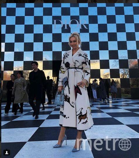 Яна Рудковская на шоу Dior.