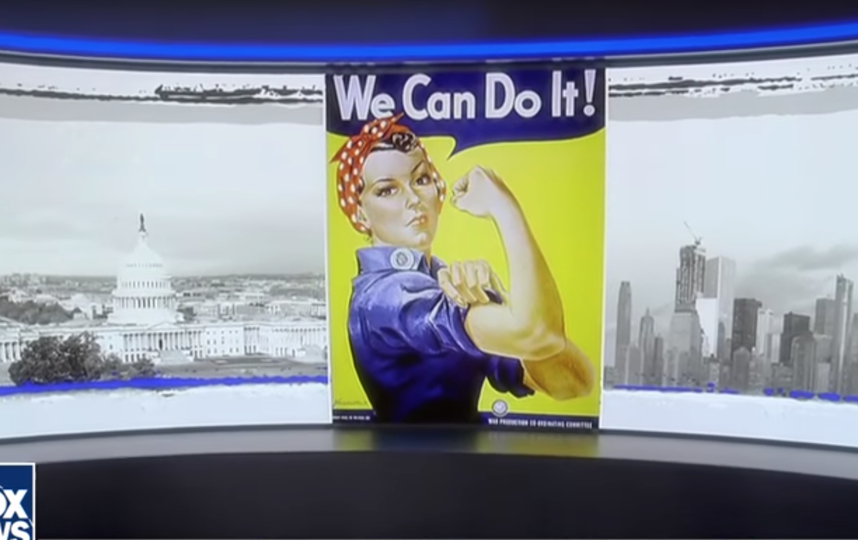 Плакат We Can Do It! в эфире Fox News. Фото Скриншот Youtube