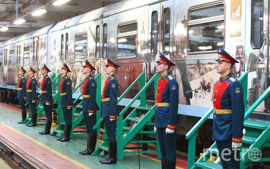 Новый поезд рассказывает о городах-героях Великой Отечественной войны. Фото Василий Кузьмичёнок