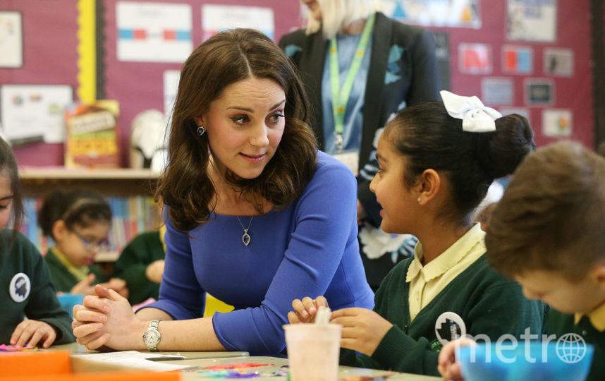 Кейт Миддлтон в начальной школе Roe Green. Фото Getty