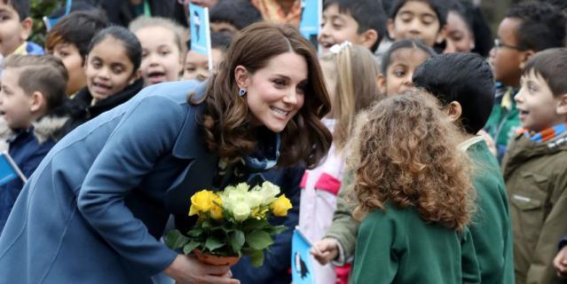 Кейт Миддлтон прибыла в школу.