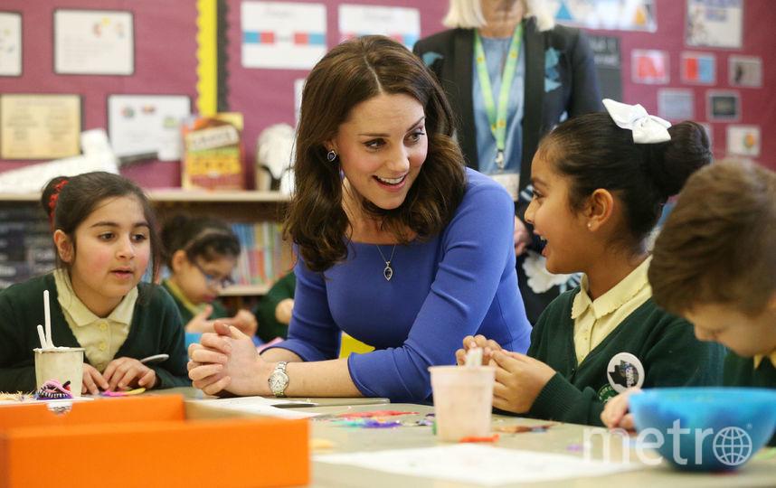 Кейт Миддлтон посетила начальную школу. Фото Getty