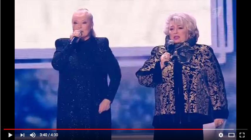 Полтора года назад Людмила Сенчина выступила на юбилейном концерте тренера Татьяны Тарасовой. Фото скрин-шот, Скриншот Youtube