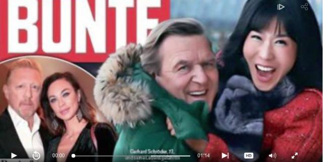 Фото Шредера с Ким появилось на обложке немецкого издания Bunte.