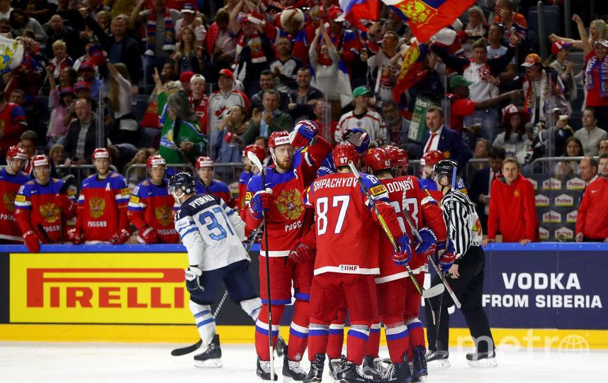 Сборная России по хоккею после матча с Финляндией на ЧМ-2017. Фото Getty