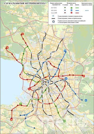 Схема развития метро КРТИ. Фото krti.gov.spb.ru
