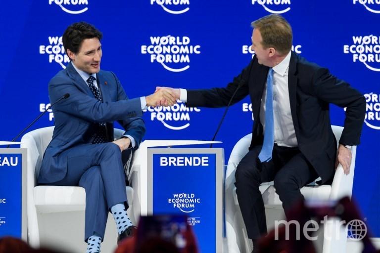 Джастин Трюдо на экономическом форуме в Давосе. Фото AFP