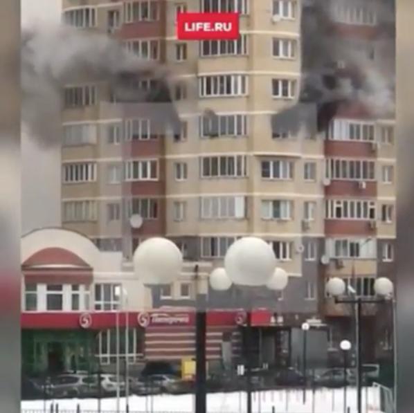 Страшный пожар в подмосковном Красногорске сняли на видео. Фото instagram.com/pr.start/