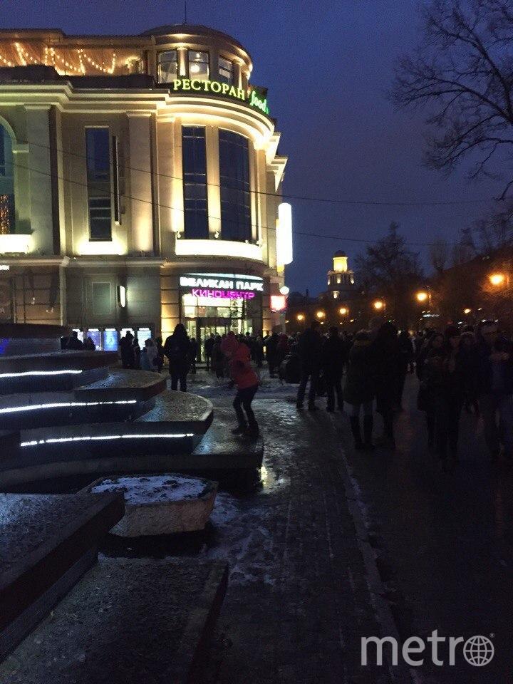 """Эвакуация  """"Великан Парка"""". Фото vk.com/spb_today, vk.com"""