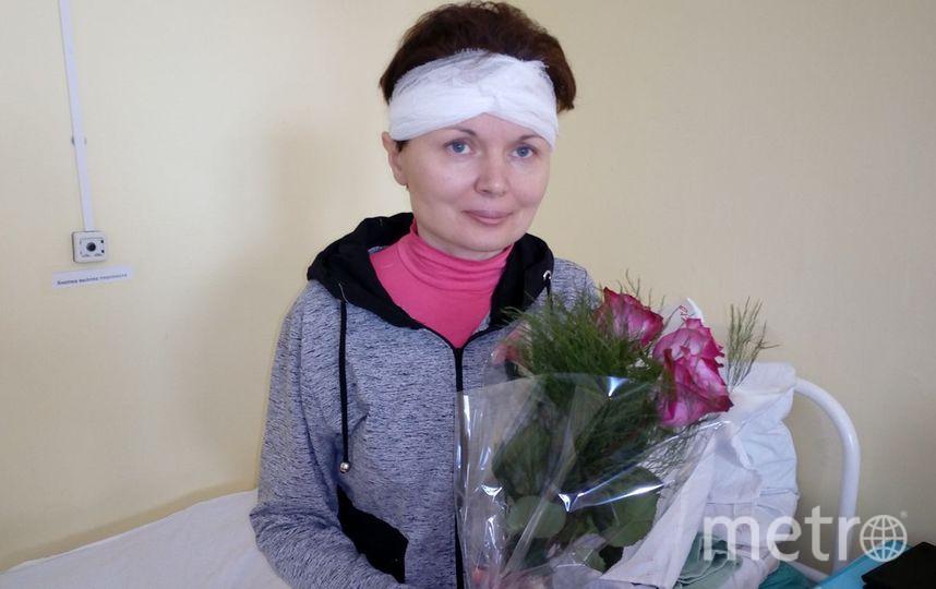 Ирина Раменская в больнице. Фото Facebook/dora.khamaganova