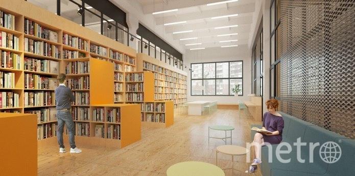 Библиотека вместит в себя несколько читальных залов, сделанных по типу коворкинга и детскую комнату с организованным досугом. Фото Предоставлено организаторами