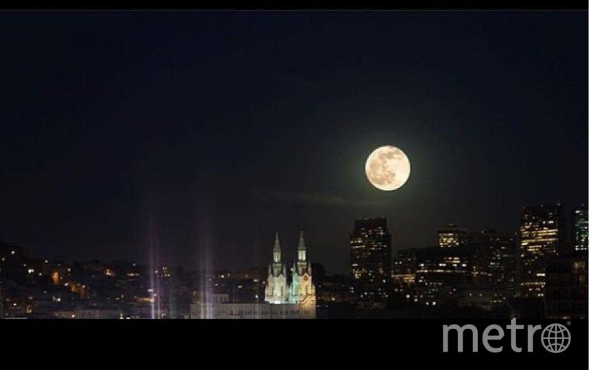 Полная Луна уже заворожила полмира своим ярким светом. Сан-Франциско. Фото https://www.instagram.com/artfullreality/