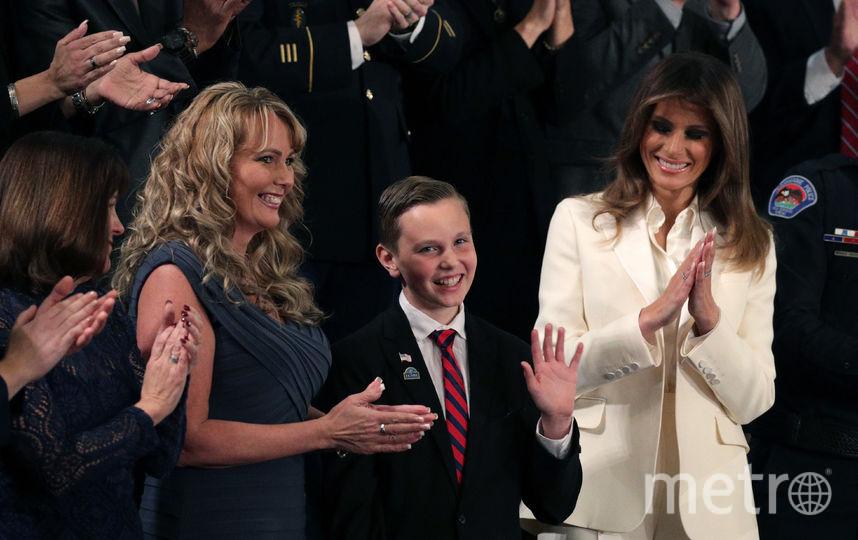 Мелания Трамп в Конгрессе на выступление мужа приехала самостоятельно. Фото Getty
