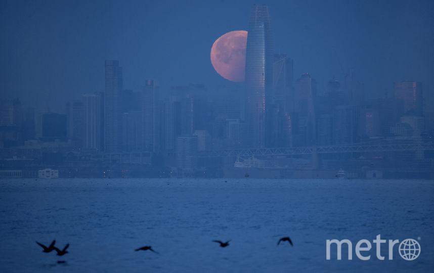 Суперлуние в США. Фото AFP