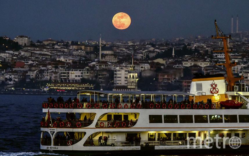 Суперлуние в Турции. Фото AFP