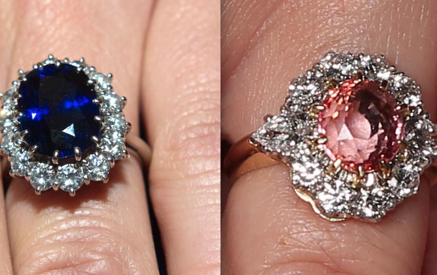 Кольца Кейт Миддлтон и принцессы Евгении украшены сапфирами. Фото Getty