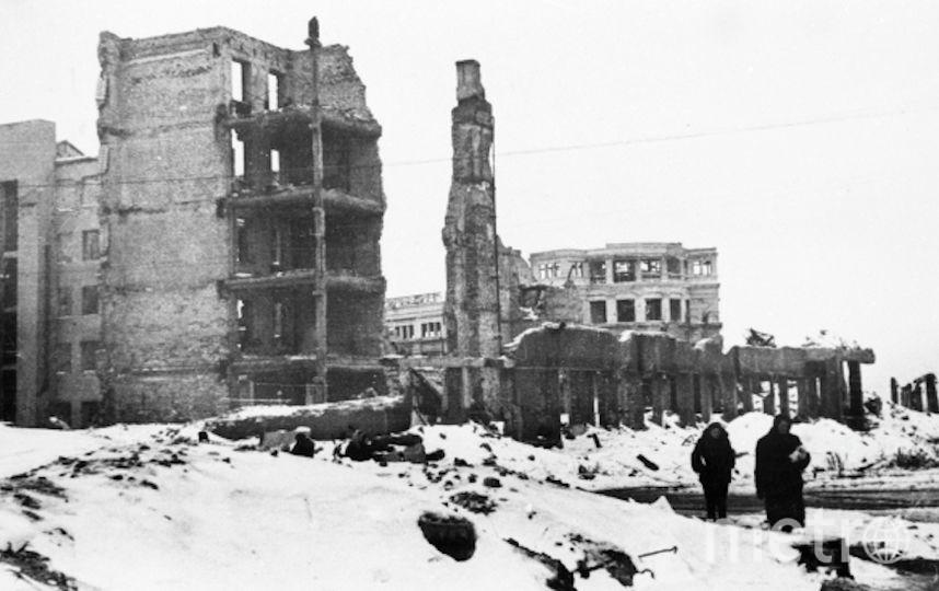 Германская авиация практически сровняла Сталинград с землёй. Фото РИА Новости