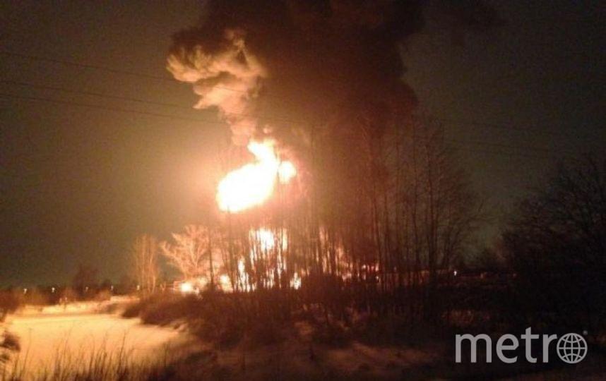 Пожар в Ковалёво. Фото vk.com
