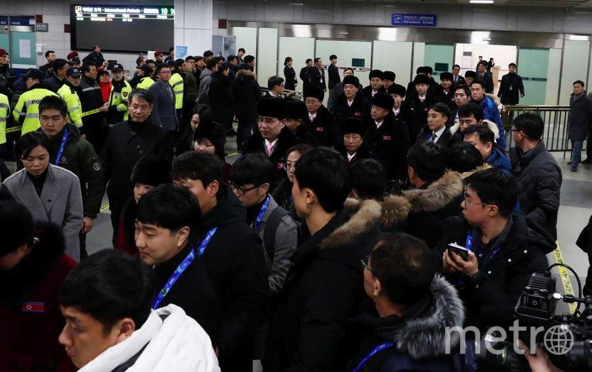 Олимпийцы Северной Кореи прибыли в Пхёнчхан. Фото Getty