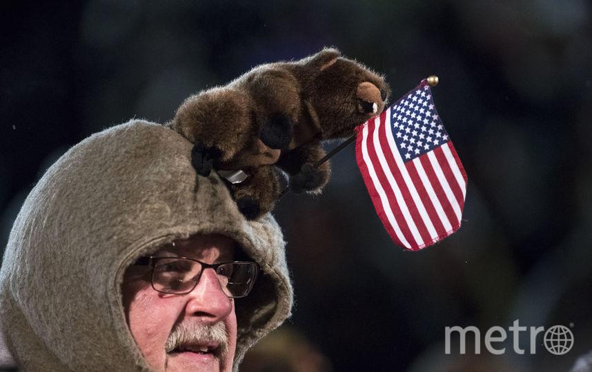 """Посетитель мероприятия """"День сурка"""". Фото AFP"""