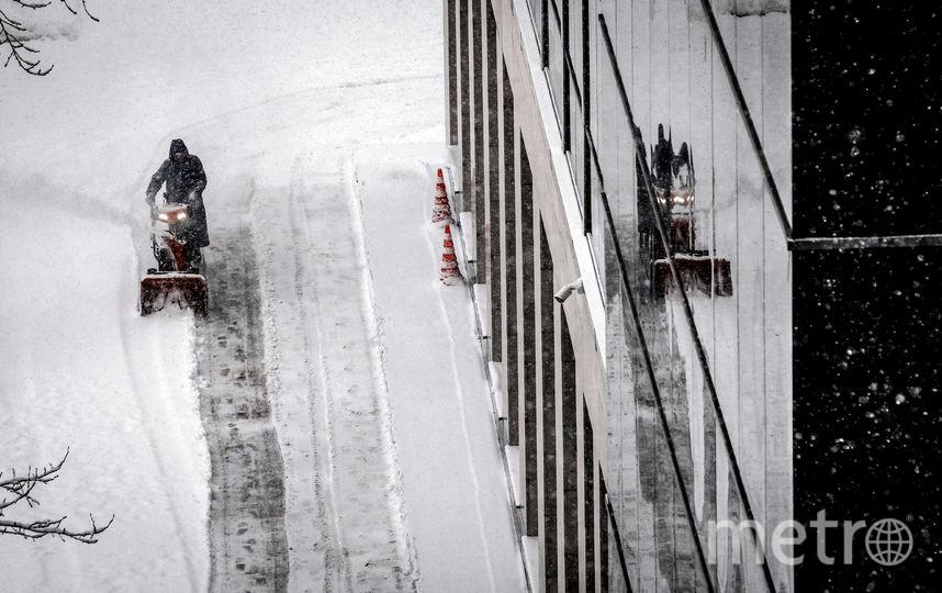 Снегопад в столице стал сильнейшим с начала этой зимы. Фото AFP