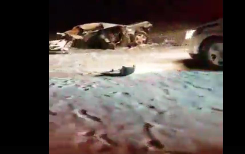 Авария на трассе Петербург - Псков. Фото Скриншот видео https://vk.com/spb_today