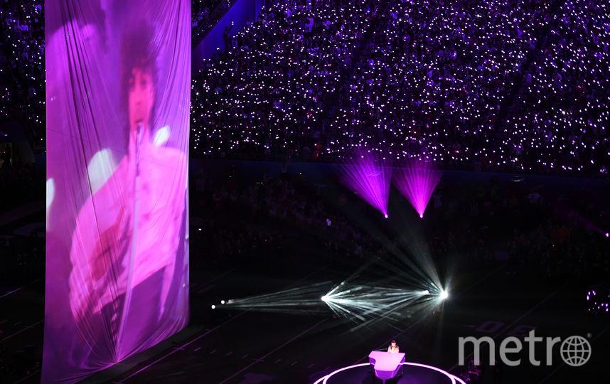 Джастин Тимберлейк исполнил песню, посвящённую Принсу. Фото AFP