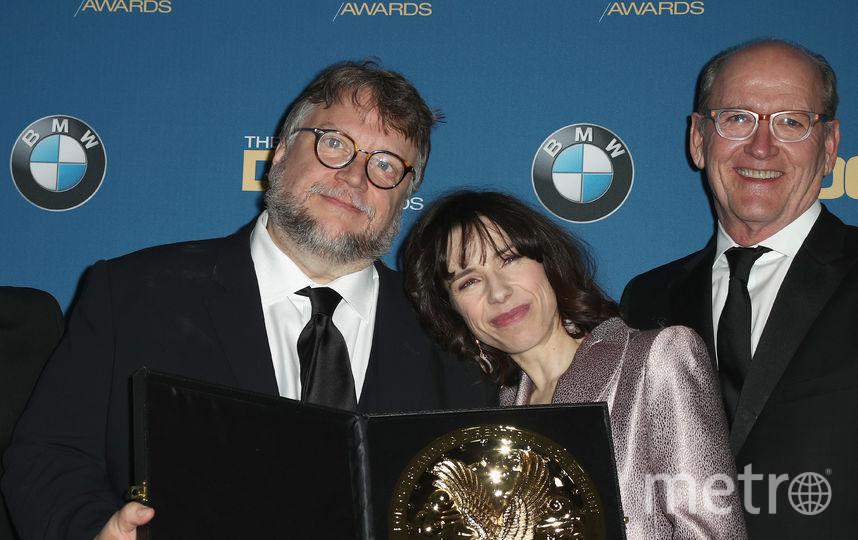 Режиссёр Гильермо дель Торо и актёры Салли Хоукинс и Ричард Дженкинс. Фото Getty