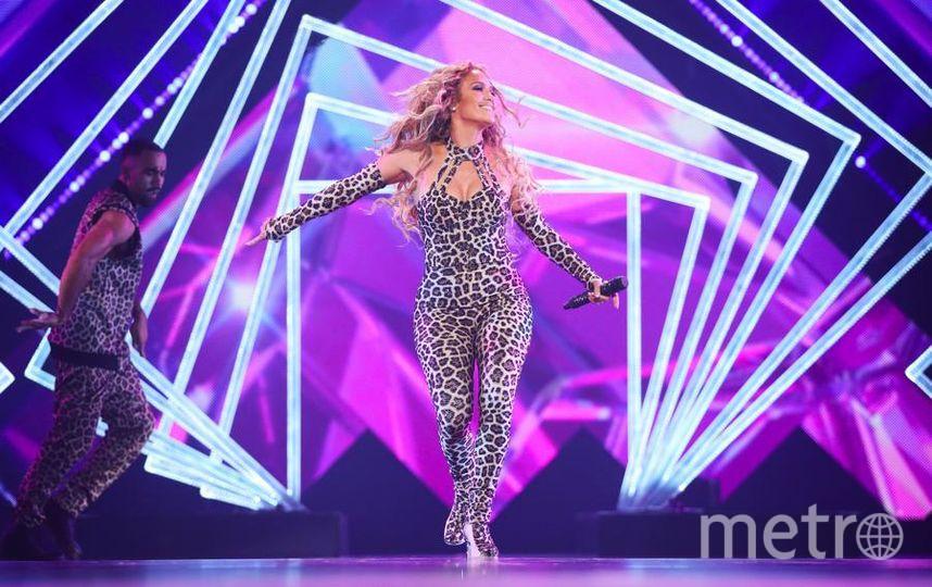 Дженнифер Лопес на концерте перед Супербоулом-2018. Фото Getty