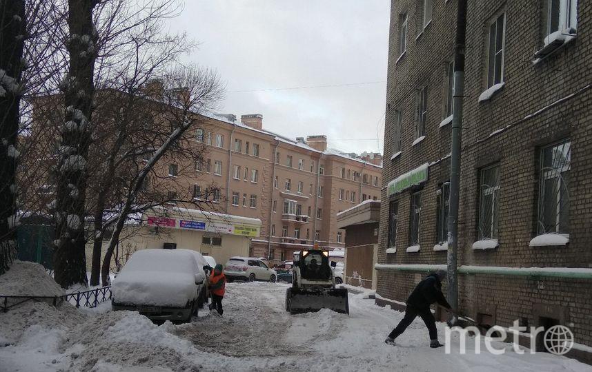 В Петербурге борются со снегом. Фото Ольга Рябинина.