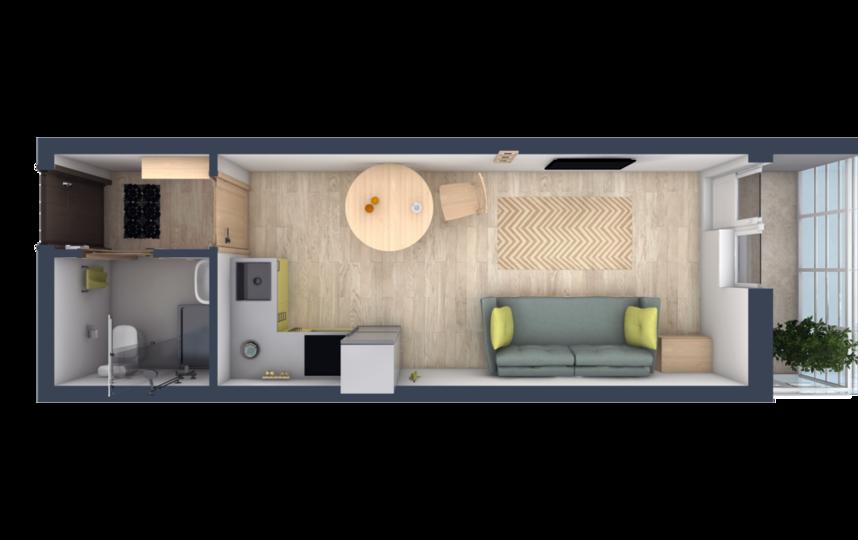Планировки в ЖК Ломоносовъ - такую квартиру можно зонировать, как того пожелают жильцы.