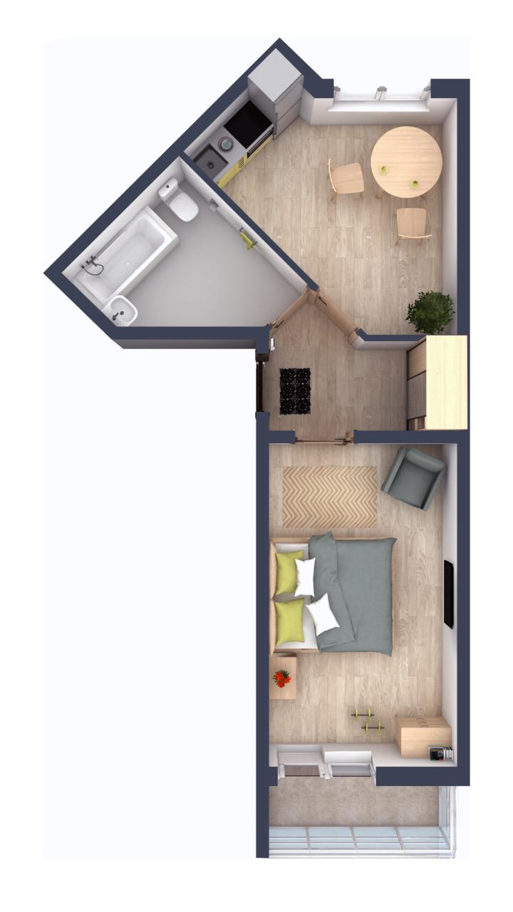 Планировки в ЖК Ломоносовъ - расположение комнат продумано специально для семейных покупателей.