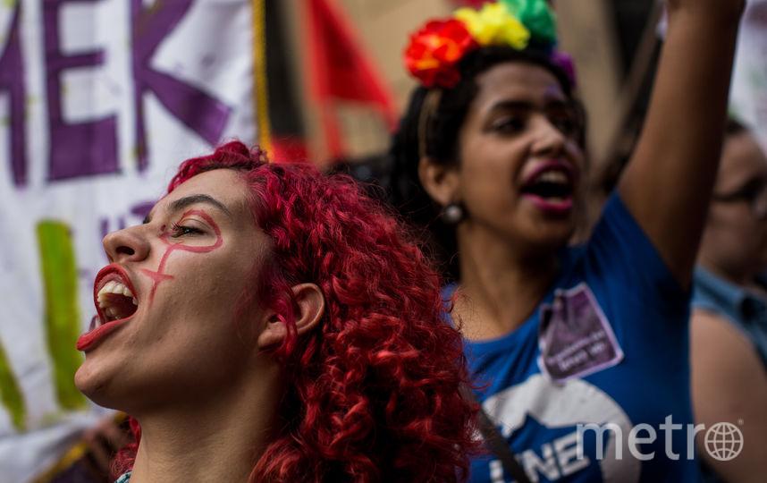 Митинг феминисток в Бразилии. Фото Getty
