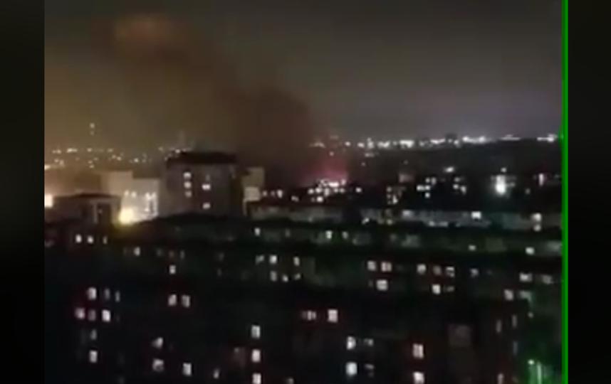 В Баку прогремел взрыв на радиозаводе. Фото Скриншот видео facebook.com