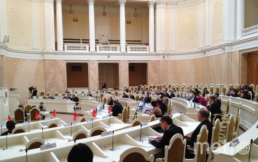 Депутаты Закса на заседании.
