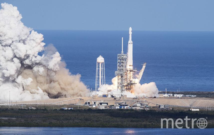 Запуск ракеты Falcon Heavy. Фото AFP