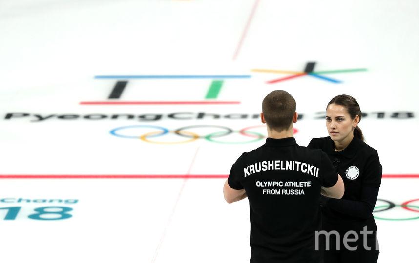 Российские кёрлингисты Александр Крушельницкий и Анастасия Брызгалова. Фото Getty