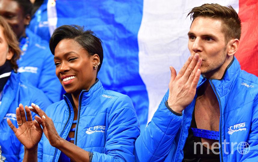 Французы Ванесса Джеймс и Морган Сипре. Фото AFP