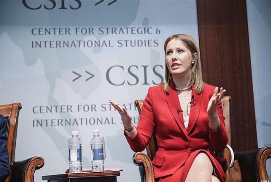 Выступление Ксении Собчак в CSIS (Вашингтон, США). Фото www.instagram.com/xenia_sobchak