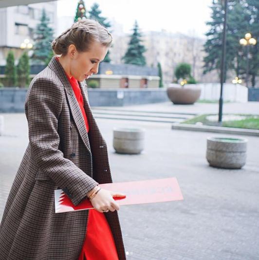 Телеведущая и кандидат в президенты России Ксения Собчак. Фото www.instagram.com/xenia_sobchak