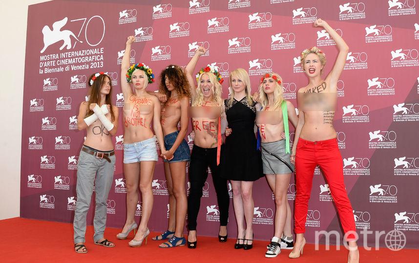 Активистки Femen регулярно устраивают акции - с 2013 года. Фото Getty